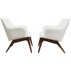 Pair of 1960s Modernist Armchairs