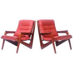 Pair of 1960s Norwegian Easy Chairs
