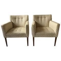 Pair of 1960s Scandinavian Armchairs with Teak Legs
