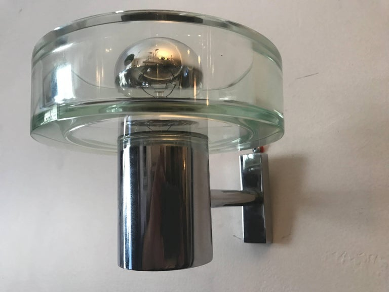 Pair of 1960s Seguso Murano Glass Wall Lights For Sale 2