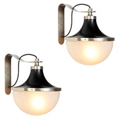 Pair of 1960s Sergio Mazza 'Pi' Wall Lights for Artemide