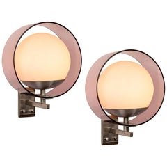 Pair of 1960s Stilux Milano 'Saturno' Wall Lamps