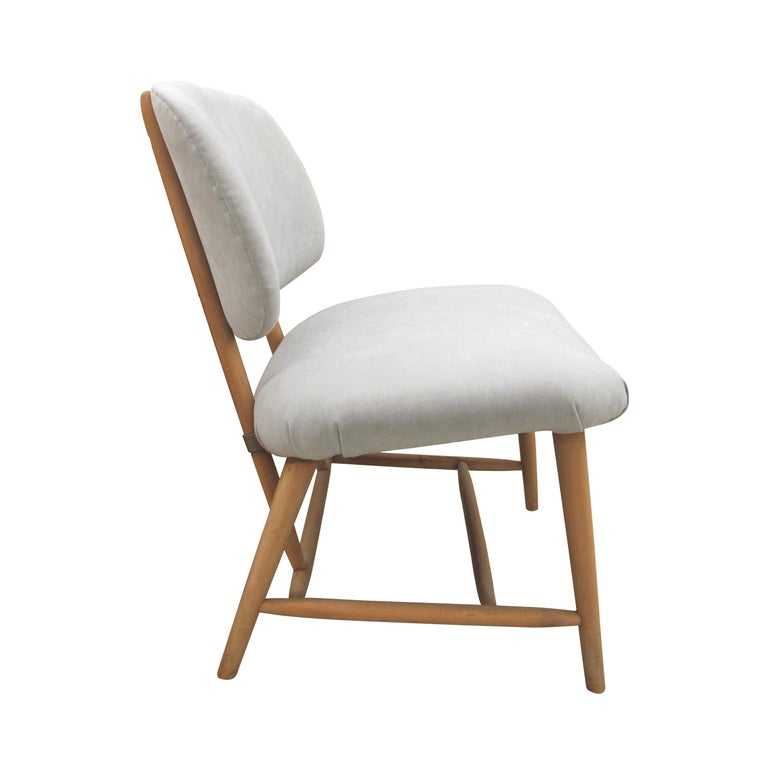 Mid-Century Modern Pair of 1960s Swedish Alf Svensson Occasional Lounge Chairs Newly Reupholstered For Sale