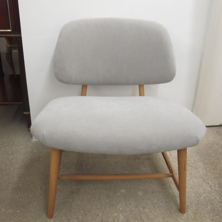 Pair of 1960s Swedish Alf Svensson Occasional Lounge Chairs Newly Reupholstered In Good Condition For Sale In London, GB