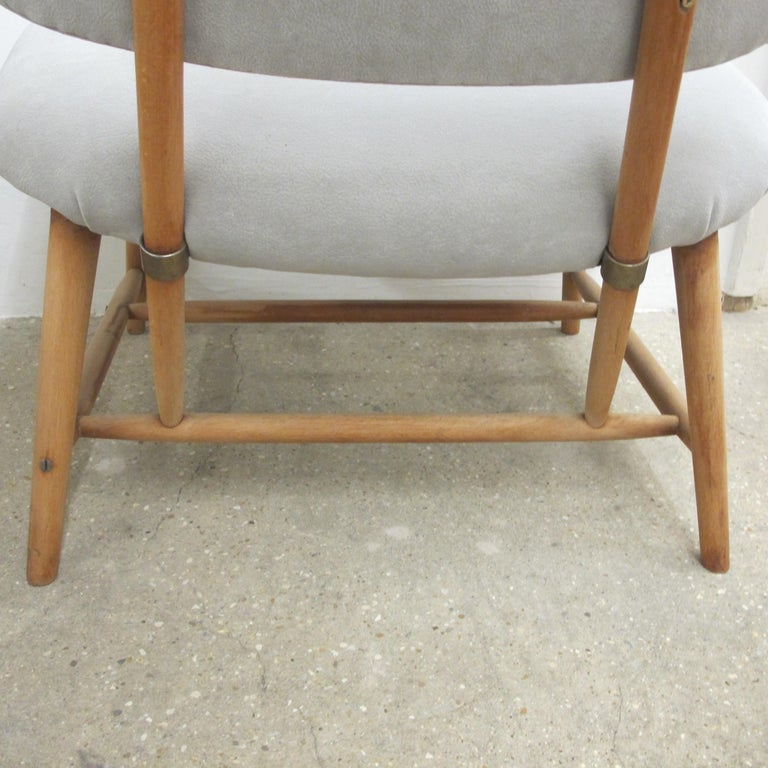 Fabric Pair of 1960s Swedish Alf Svensson Occasional Lounge Chairs Newly Reupholstered For Sale