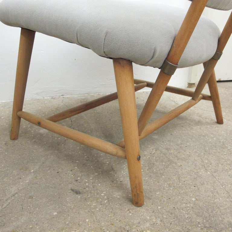 Pair of 1960s Swedish Alf Svensson Occasional Lounge Chairs Newly Reupholstered For Sale 2