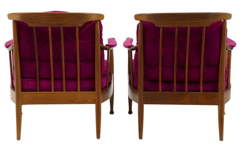 Woodwork Pair of 1960s Swedish Walnut Ope Mobler Lounge Chairs For Sale