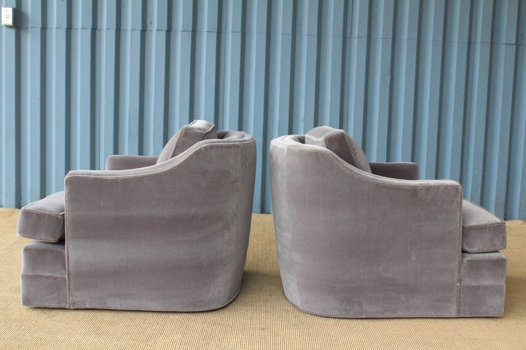 Mid-20th Century Pair of 1960s Swivel Club Chairs For Sale
