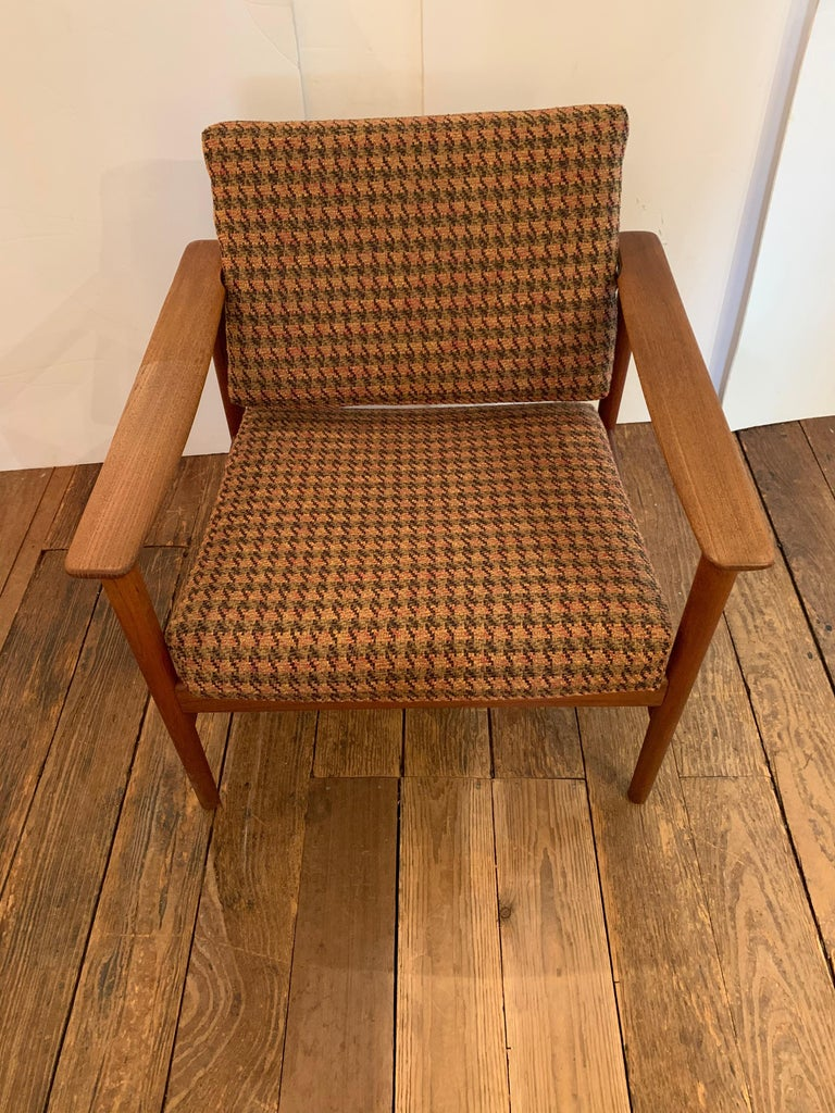 Danish Pair of 1960s Teak Lounge Club Chairs For Sale