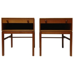 Pair of 1960s Tingstroms Teak Nightstands / Bedside / Side / End Tables