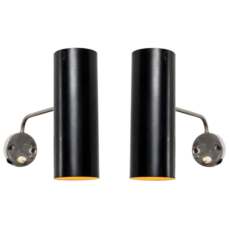 Pair of 1960s Tito Agnoli Wall Lights for O-Luce For Sale