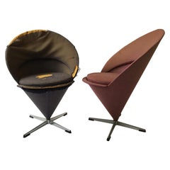 Pair of 1960s Verner Panton Cone Chairs