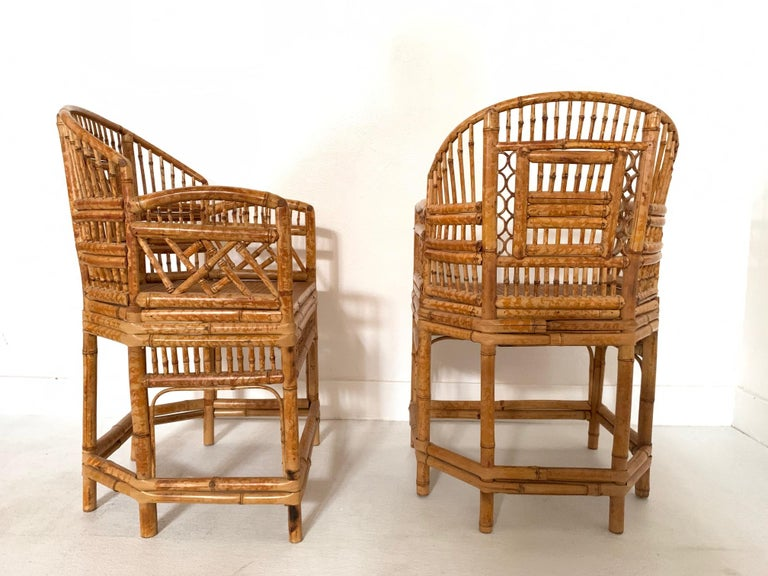 Pair of 1970s Bamboo Side Chairs In Good Condition In New York, NY