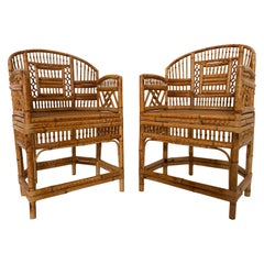 Pair of 1970s Bamboo Side Chairs