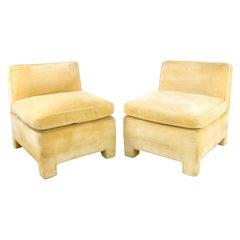 Pair of 1970s Bloomingdale's Slipper Chairs