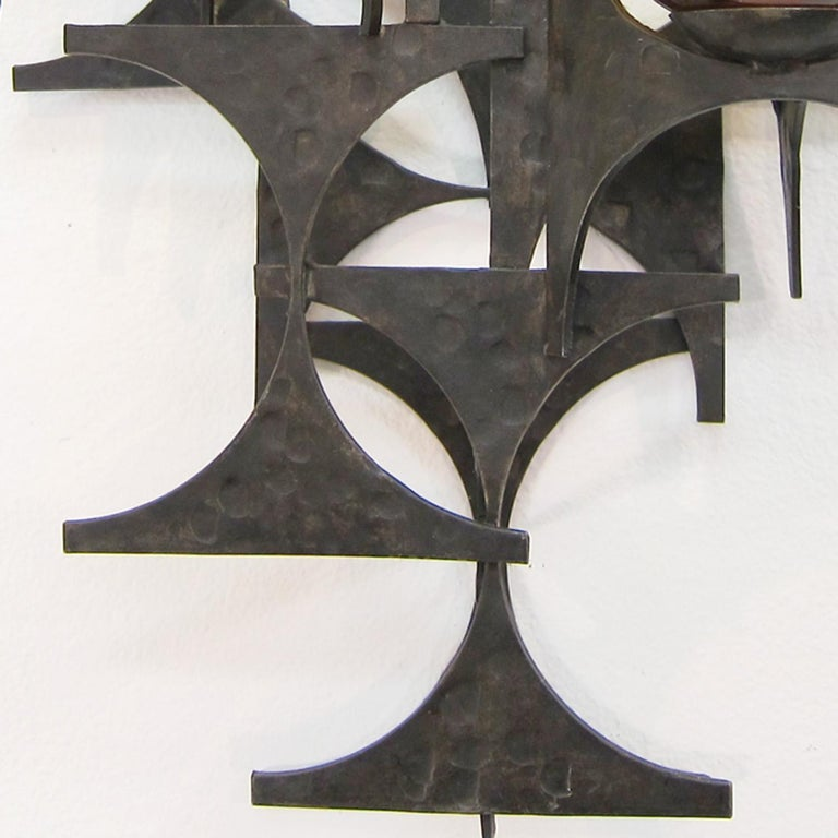 Pair of 1970s Brutalist Wall Sconces For Sale 2