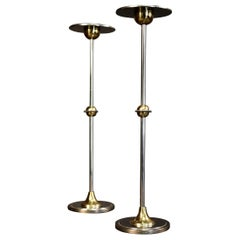 """Pair of 1970s Candleholders """"La Notte"""" Model Signed by Chrystiane Charles"""