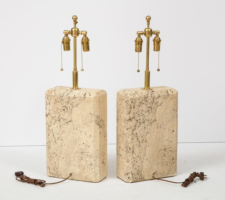 Pair of 1970s Ceramic Lamps For Sale 3