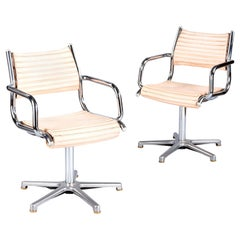 Pair of 1970s Chrome Armchairs by Olymp, Germany