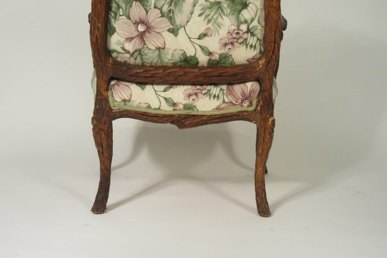 Pair of 1970s Faux Bois Armchairs For Sale 6