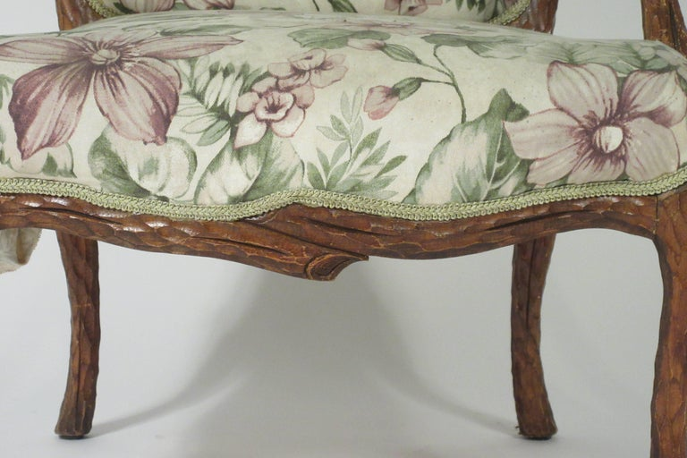 Pair of 1970s Faux Bois Armchairs For Sale 7