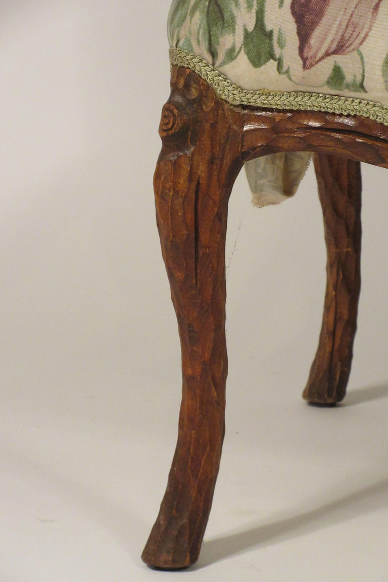 Pair of 1970s Faux Bois Armchairs For Sale 8