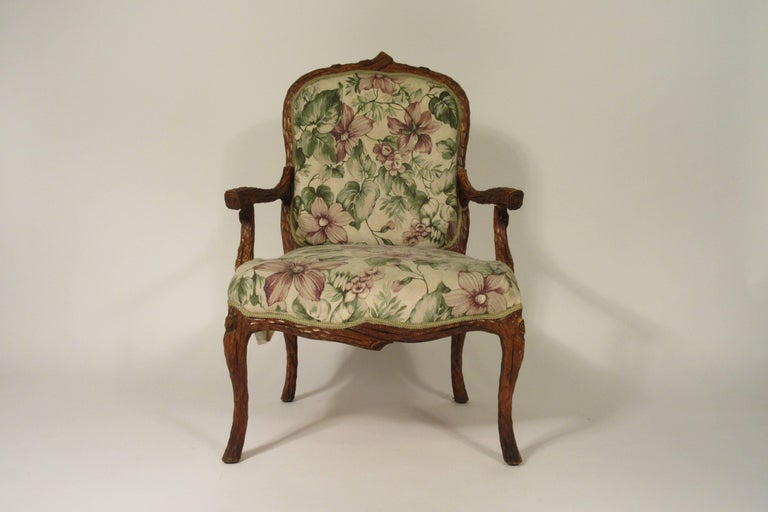 Pair of 1970s Faux Bois Armchairs.