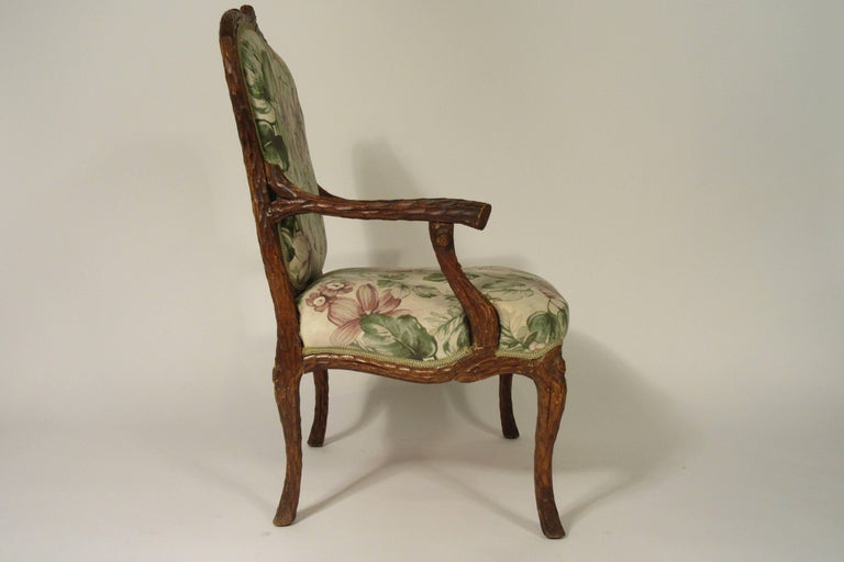 Pair of 1970s Faux Bois Armchairs For Sale 2