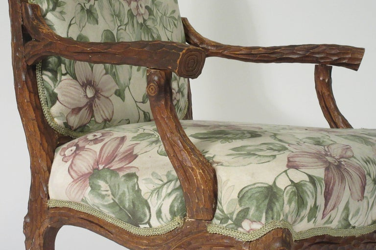 Pair of 1970s Faux Bois Armchairs For Sale 4