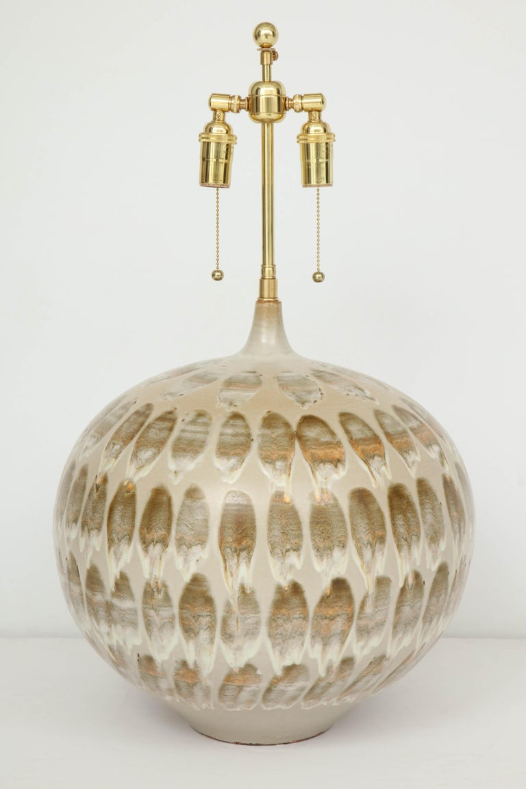 Pair of 1970s Giant Ceramic Lamps For Sale 2