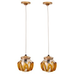 Pair of 1970s Hanging Lamps