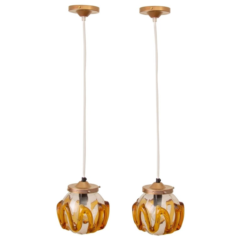 Pair of 1970s Hanging Lamps For Sale