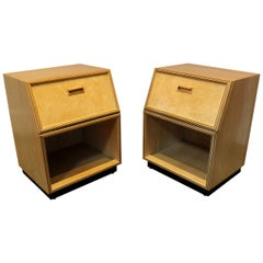 Pair of 1970s Henredon Scene Two Modern Nightstands after Milo Baughman