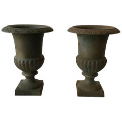 Pair of 1970s Iron Urns