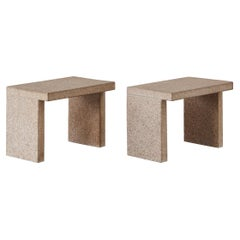 Pair of 1970s Italian Stone Side Tables