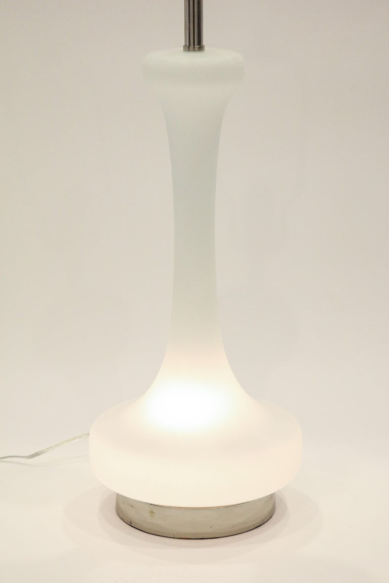 Frosted Pair of 1970s Lamps by Laurel Lamp Company For Sale