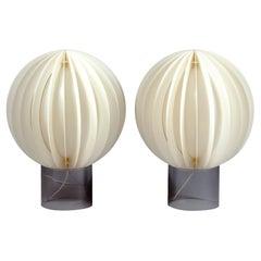 Pair of 1970s Large Bent Gantzel-Boysen Table Lamps, Cirkel, IKEA