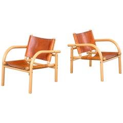 Pair of 1970s Lounge Safari Chairs by Ben af Schultén for Artek