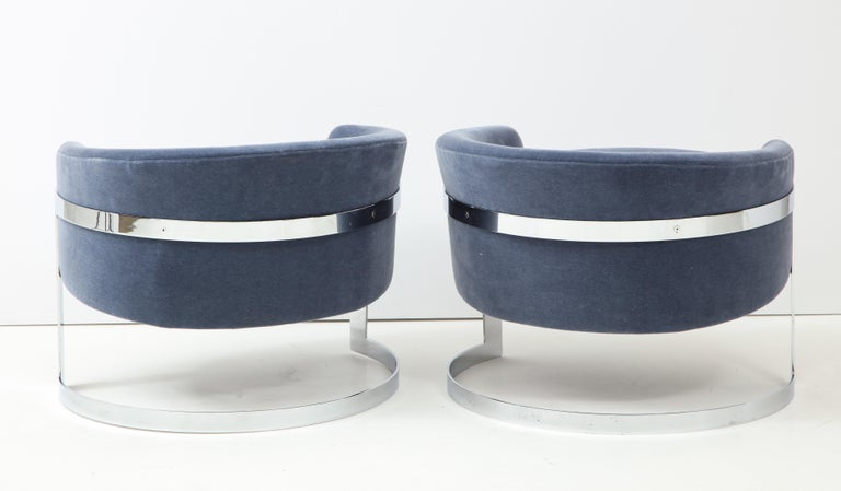 Mid-Century Modern Pair of 1970s Milo Baughman  Club Chairs For Sale