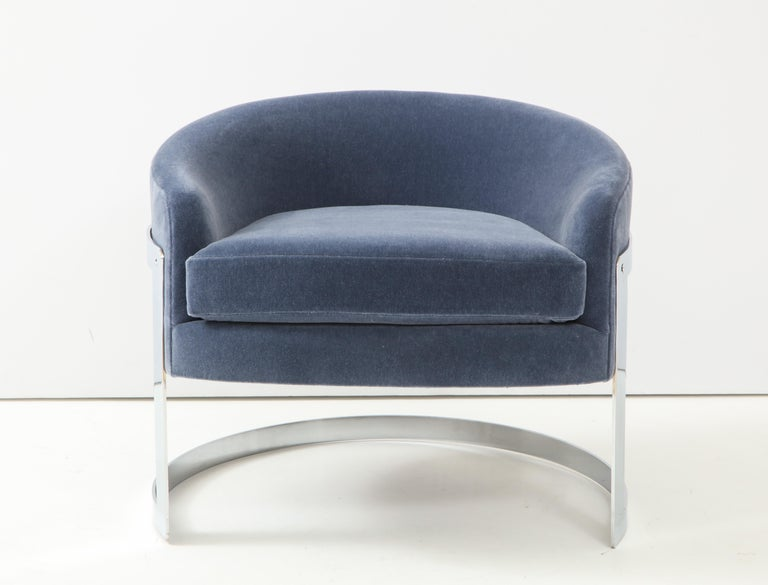 Pair of 1970s Milo Baughman  Club Chairs In Good Condition For Sale In New York, NY