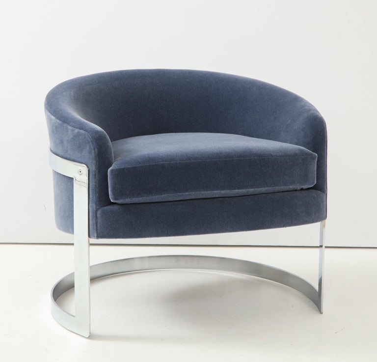 Pair of 1970s Milo Baughman  Club Chairs For Sale 1