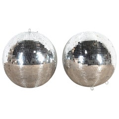 Pair of 1970s Nightclub Disco Mirror Balls