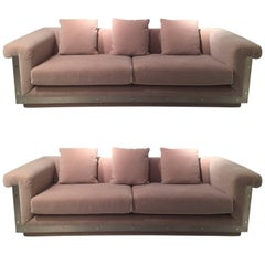 Pair of 1970s Sofas by Maison Jansen