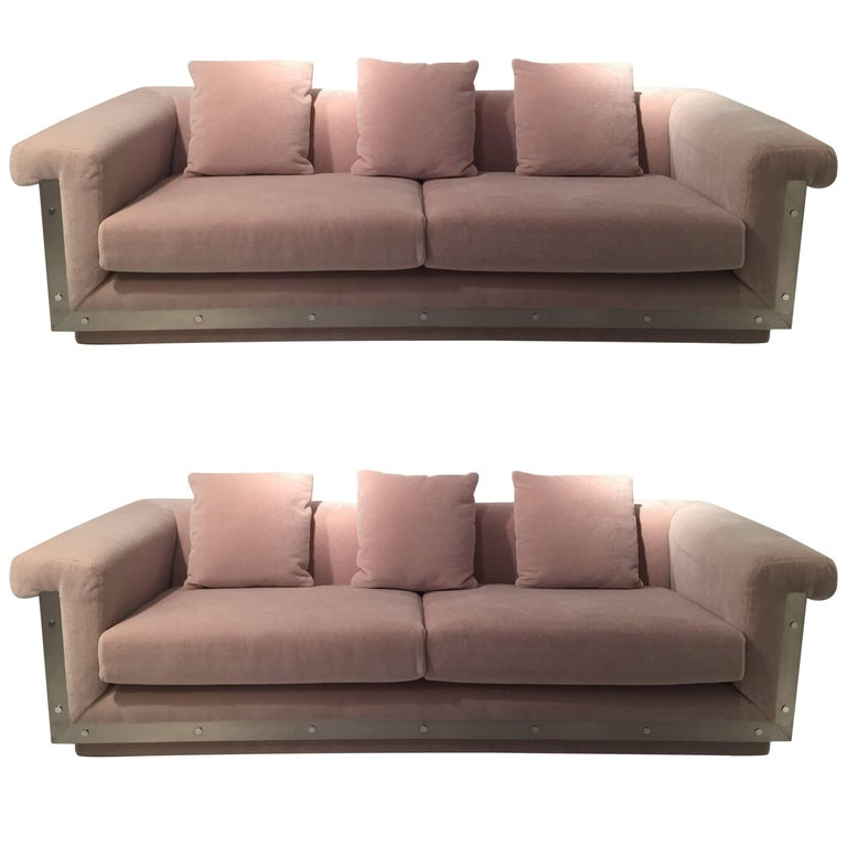 Pair of 1970s Sofas by Maison Jansen For Sale