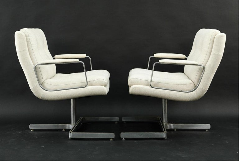 Mid-Century Modern Pair of 1974 Raphael Raffel Armchairs For Sale