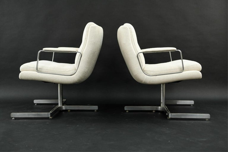 French Pair of 1974 Raphael Raffel Armchairs For Sale