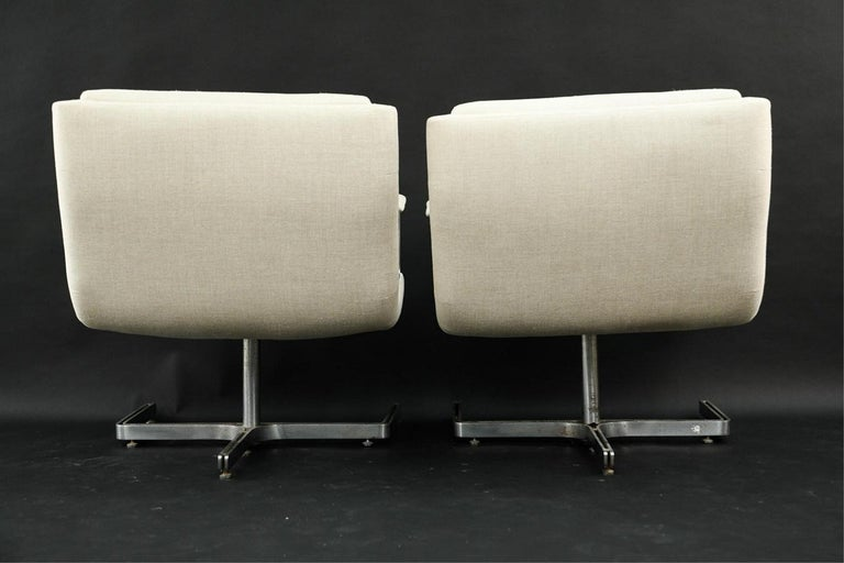 Pair of 1974 Raphael Raffel Armchairs In Good Condition For Sale In New York, NY