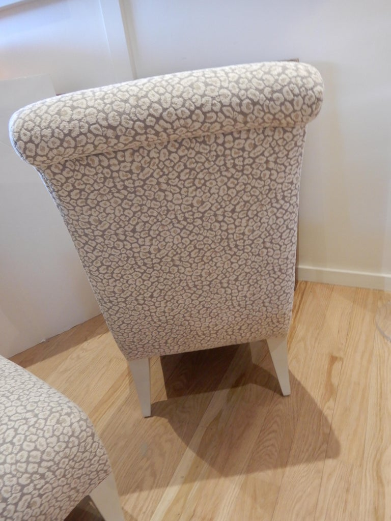 Pair of 1980s Donghia Slipper Chairs or Side Chairs 1