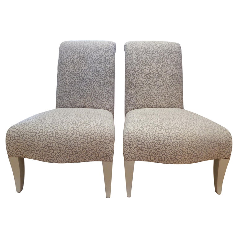 Pair of 1980s Donghia Slipper Chairs or Side Chairs