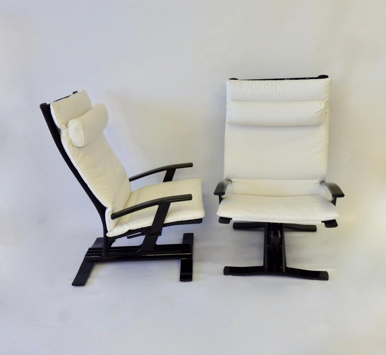 Pair Of 1980s High Tech Decorator Aluminum Outdoor Chairs